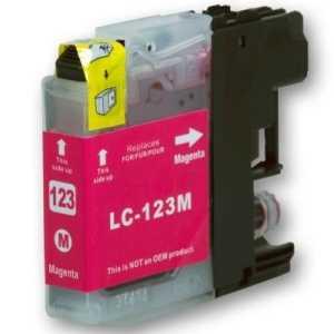 Brother LC-123 M magenta cartridge červená purpurová kompatibilní inkoustová náplň pro tiskárnu Brother MFC-J870DW