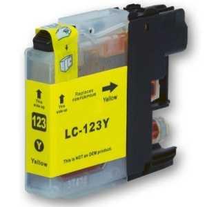 Brother LC-123 Y yellow cartridge žlutá kompatibilní inkoustová náplň pro tiskárnu Brother MFC-J870DW