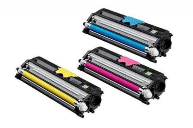 barevná sada kompatibilní s Konica Minolta 1710595001 (A00W332, A00W232, A00W132) - 3x tonery do tiskárny Minolta Magicolor 2400