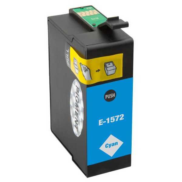 Epson T1572 cyan cartridge modrá azurová kompatibilní inkoustová náplň pro tiskárnu Epson Stylus Photo R3000