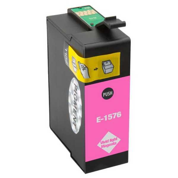 Epson T1576 magenta cartridge světlá purpurová kompatibilní inkoustová náplň pro tiskárnu Epson Stylus Photo R3000