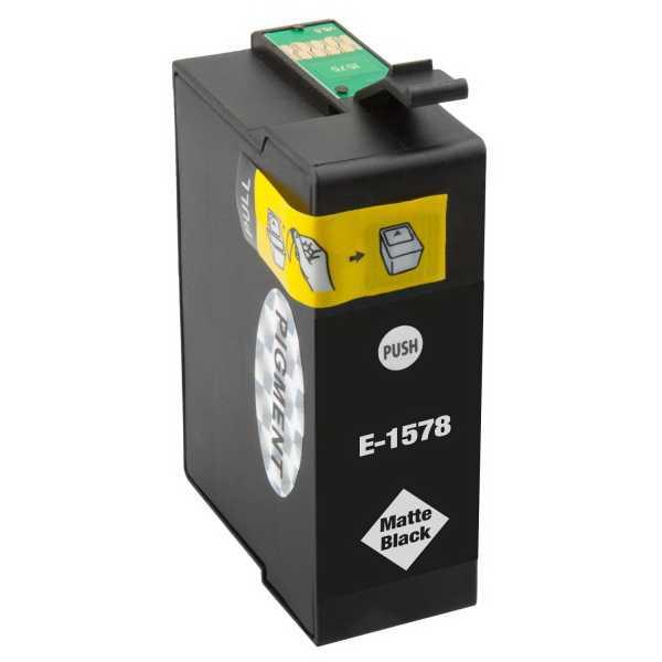 Epson T1578 matt black cartridge matná černá kompatibilní inkoustová náplň pro tiskárnu Epson Stylus Photo R3000