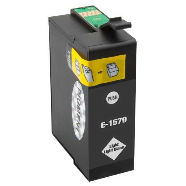 Epson T1579 light light black cartridge světlá černá kompatibilní inkoustová náplň pro tiskárnu Epson Stylus Photo R3000