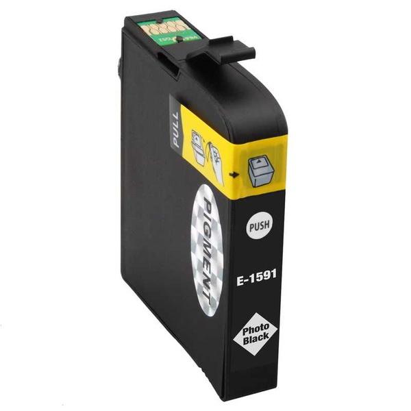 Epson T1591 photo black černá foto kompatibilní inkoustová cartridge náplň pro tiskárnu Epson Stylus Photo R2000
