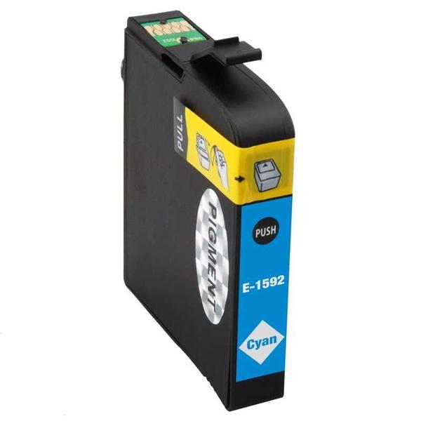 Epson T1592 cyan modrá azurová kompatibilní inkoustová cartridge náplň pro tiskárnu Epson Stylus Photo R2000