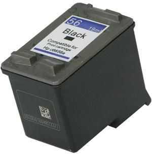 HP56 (C6656AE) black cartridge černá kompatibilní inkoustová náplň pro tiskárnu HP OfficeJet 6110