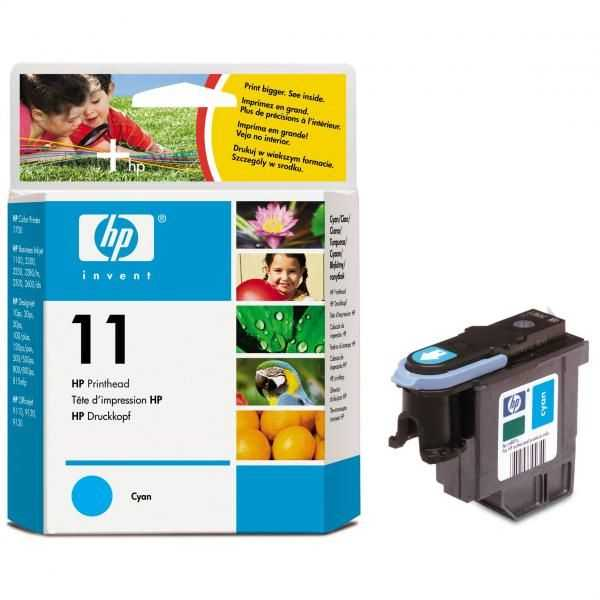 originální HP C4811A modrá tisková hlava pro tiskárnu HP Business InkJet 1200d