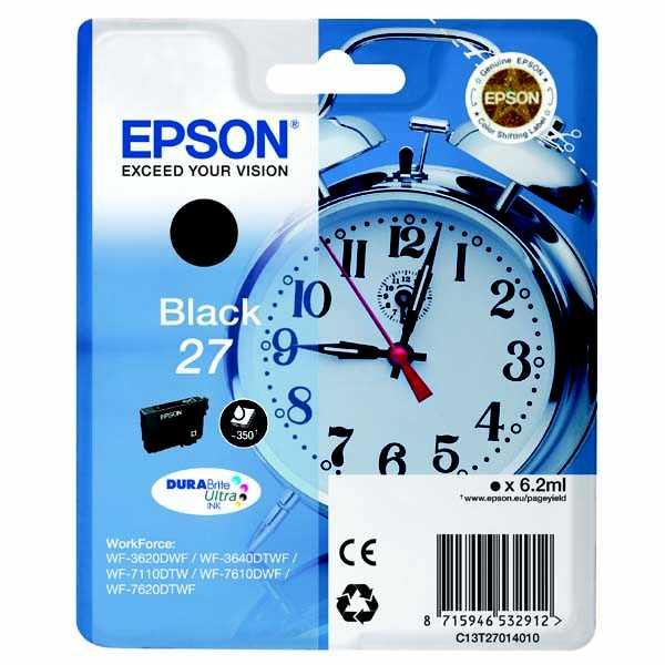 originální Epson T2701 black cartridge černá originální inkoustová náplň pro tiskárnu Epson WorkForce WF-7620 DTWF