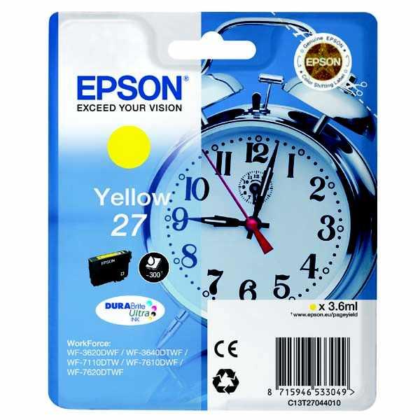 originální Epson T2704 yellow cartridge žlutá originální inkoustová náplň pro tiskárnu Epson WorkForce WF-3620 DNF