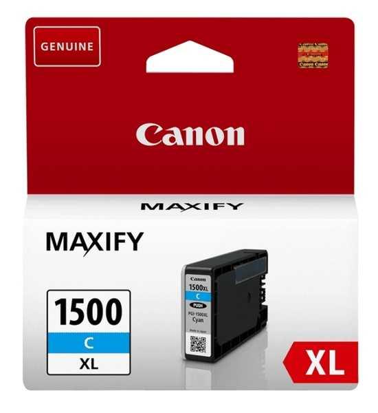 originální Canon PGI-1500XL c cyan cartridge modrá azurová originální inkoustová náplň pro tiskárnu Canon Maxify MB 2755