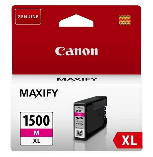 originální Canon PGI-1500XL m magenta cartridge purpurová červená originální inkoustová náplň pro tiskárnu Canon Maxify MB 2150
