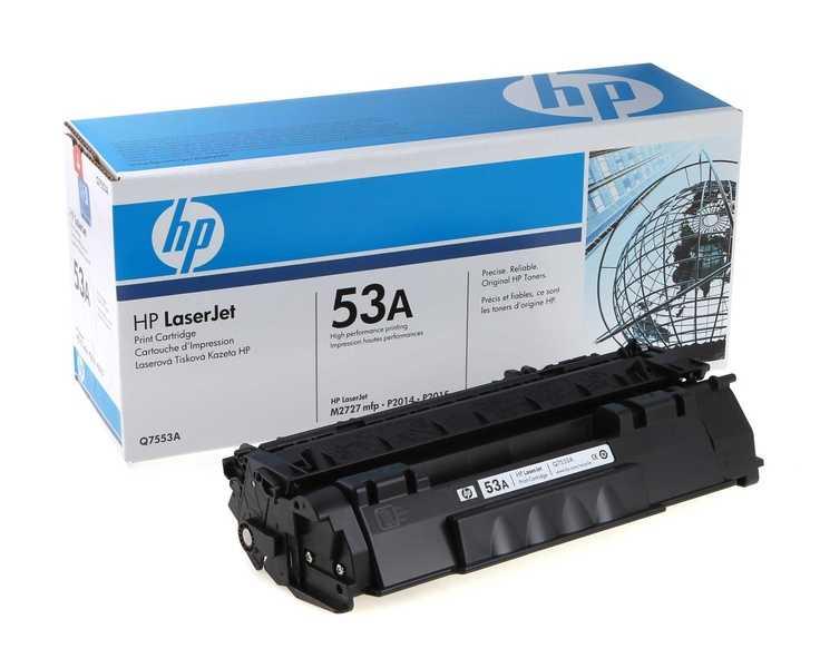 originální toner HP 53A, HP Q7553A (3000 stran) černý originální toner pro tiskárnu HP LaserJet M2727
