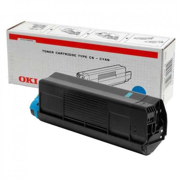 originální toner OKI 42127407 cyan modrý azurový originální toner pro tiskárnu OKI C5300n