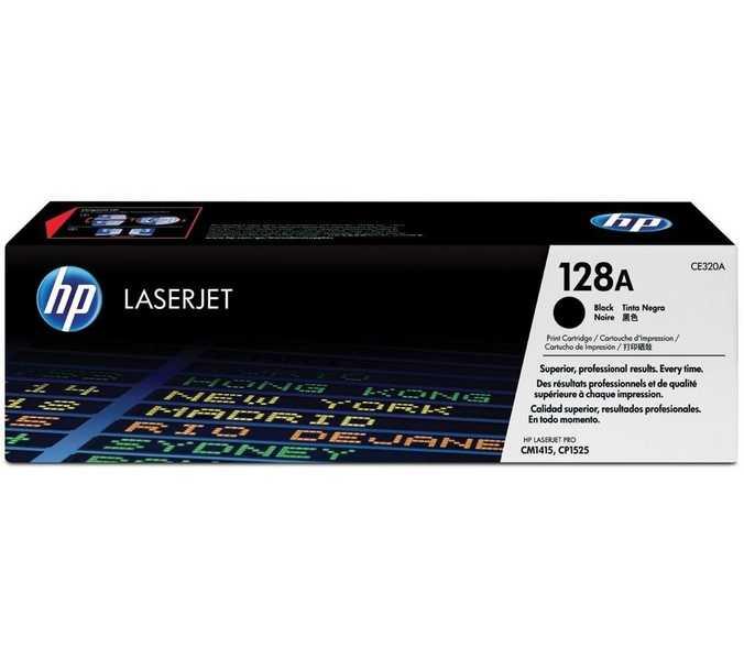 originální toner HP CE320A (HP 128A) black černý originální toner pro tiskárnu HP Color LaserJet Pro CM1415fn