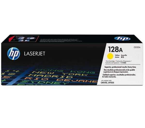 originální toner HP CE322A (HP 128A) yellow žlutý originální toner pro tiskárnu HP Color LaserJet Pro CM1415fn