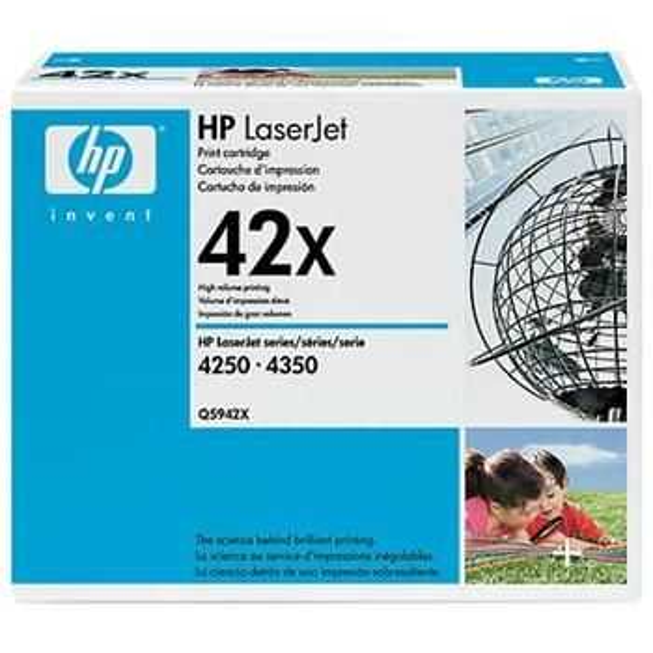 originální toner HP 42X, Q5942X - black černý originální toner pro tiskárnu HP LaserJet 4350dtnsl