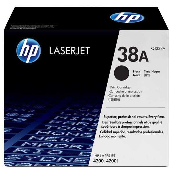originální toner HP 38A, HP Q1338A black černý originální toner pro tiskárnu HP LaserJet 4200tn