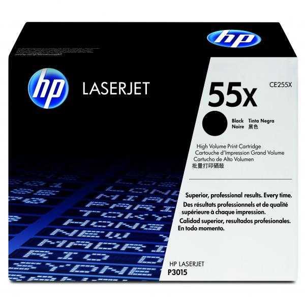 originální toner HP 55X (HP CE255X) black černý originální toner pro tiskárnu HP LaserJet P3015dn