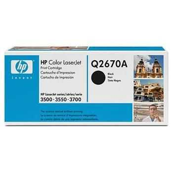 originální toner HP Q2670A, HP 308A black černý originální toner pro tiskárnu HP Color LaserJet 3550