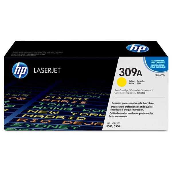 originální toner HP Q2672A, HP 308A yellow žlutý originální toner pro tiskárnu HP Color LaserJet 3550
