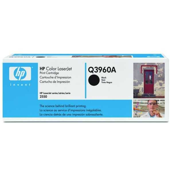 originální toner HP Q3960A, HP 122A black černý originální toner pro tiskárnu HP Color LaserJet 2550l
