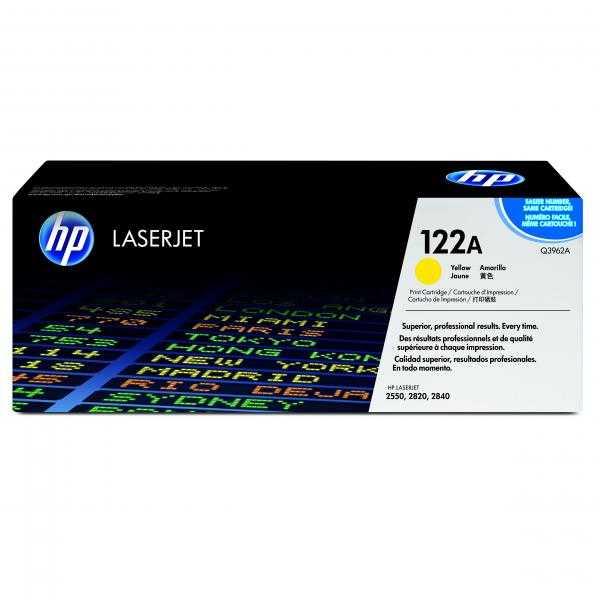 originální toner HP Q3962A, HP 122A yellow žlutý originální toner pro tiskárnu HP Color LaserJet 2550l