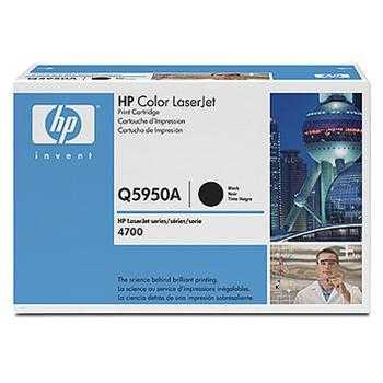 originální toner HP 643A, HP Q5950A (11000 stran) black černý originální toner pro tiskárnu HP Color LaserJet 4700n