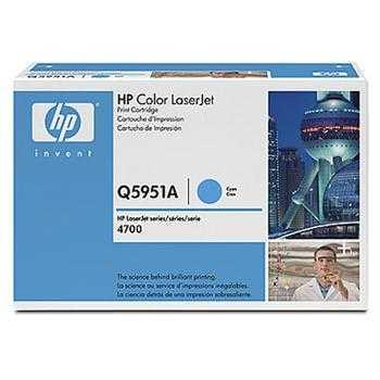 originální toner HP 643A, HP Q5951A (10000 stran) cyan modrý azurový originální toner pro tiskárnu HP Color LaserJet 4700n