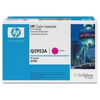 originální toner HP 643A, HP Q5953A (10000 stran) magenta purpurový červený originální toner pro tiskárnu HP Color LaserJet 4700mfp