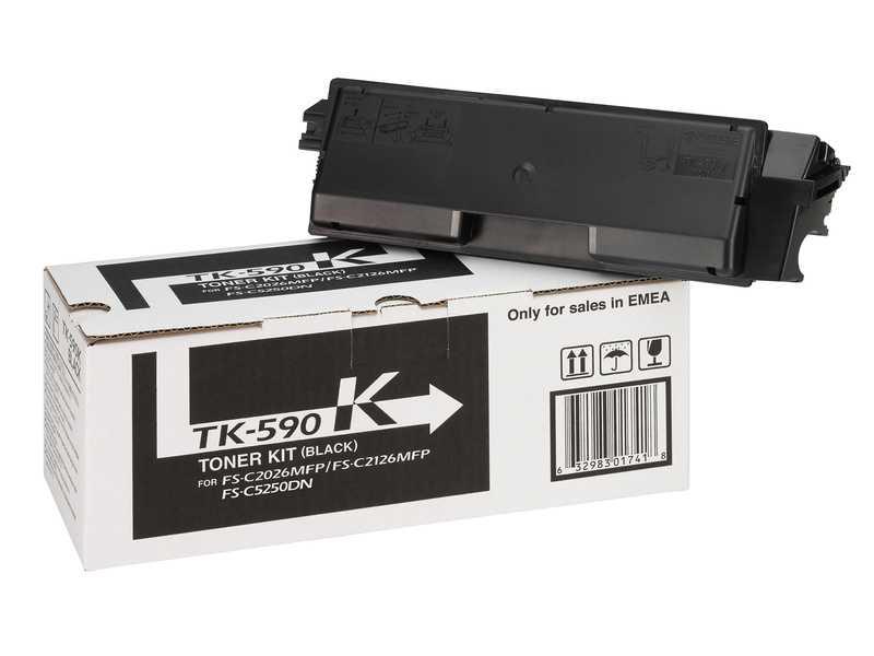 originální toner Kyocera TK-590bk 0T2KV0NL black černý originální toner pro tiskárnu Kyocera FS-C2026MFP