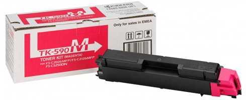 originální toner Kyocera TK-590m 0T2KVBNL magenta purpurový originální toner pro tiskárnu Kyocera FS-C2526MFP