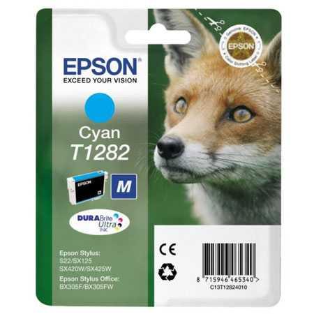 originální Epson T1282 cyan cartridge modrá azurová inkoustová náplň pro tiskárnu Epson Stylus SX440W