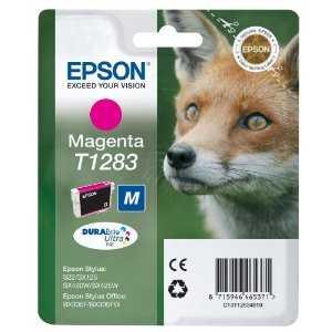 originální Epson T1283 magenta cartridge purpurová inkoustová náplň pro tiskárnu Epson Stylus SX435W