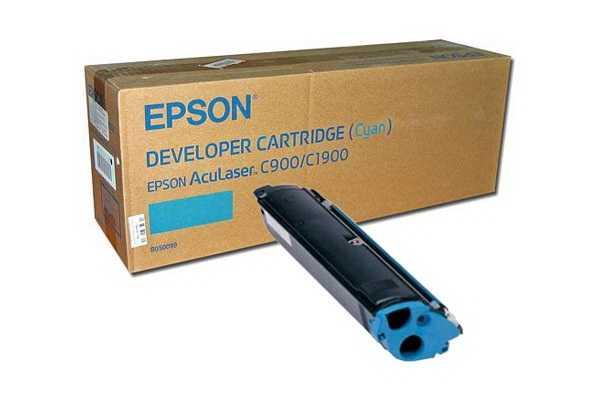 originální toner Epson S050099 cyan modrý azurový originální toner C900 C1900 pro tiskárny Epson AcuLaser C1900PS