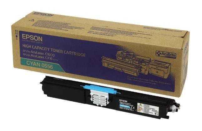 originální toner Epson C16xx C13S050556 cyan modrý azurový originální toner pro tiskárnu Epson AcuLaser CX16NF