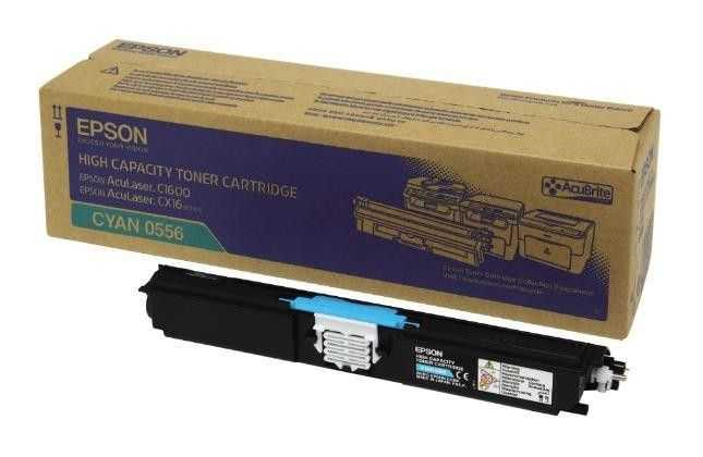 originální toner Epson C16xx C13S050556 cyan modrý azurový originální toner pro tiskárnu Epson AcuLaser C1600