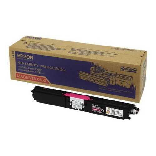 originální toner Epson C16xx C13S050555 magenta purpurový červený originální toner pro tiskárnu Epson AcuLaser C1600