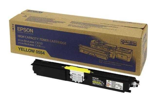 originální toner Epson C16xx C13S050554 yellow žlutý originální toner pro tiskárnu Epson AcuLaser C1600