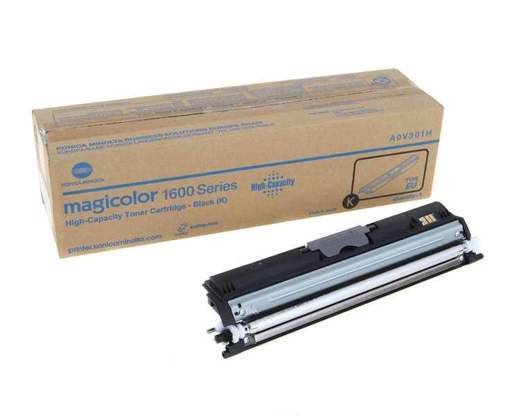 originální toner Konica-Minolta A0V301H (M1600bk) black černý originální toner pro tiskárnu Konica Minolta Magicolor 1600W