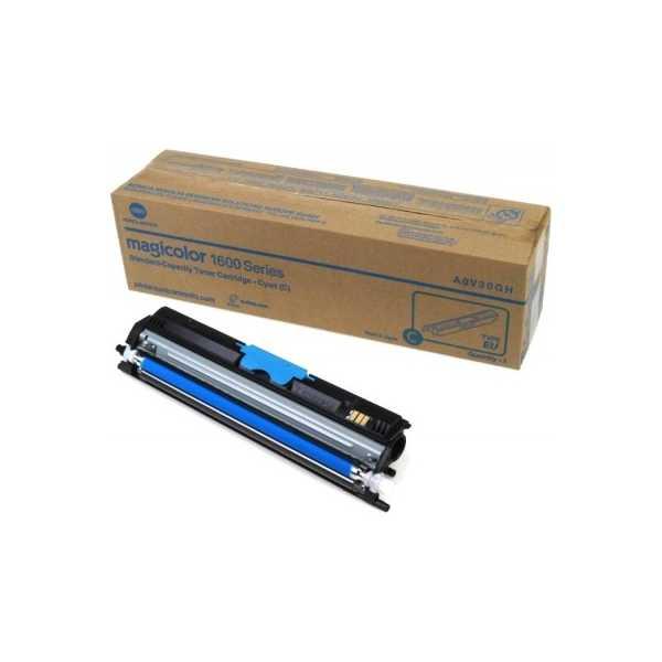 originální toner Konica-Minolta A0V30HH (M1600c) cyan modrý azurový originální toner pro tiskárnu Konica Minolta Magicolor 1650EN