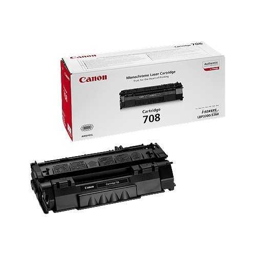 originální toner Canon CRG-708 (2500 stran) black černý originální toner pro tiskárnu Canon LBP3300