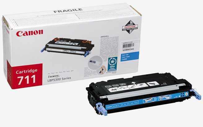 originální toner Canon CRG-711 C cyan modrý azurový originální toner pro tiskárnu Canon i-SENSYS MF9280Cdn