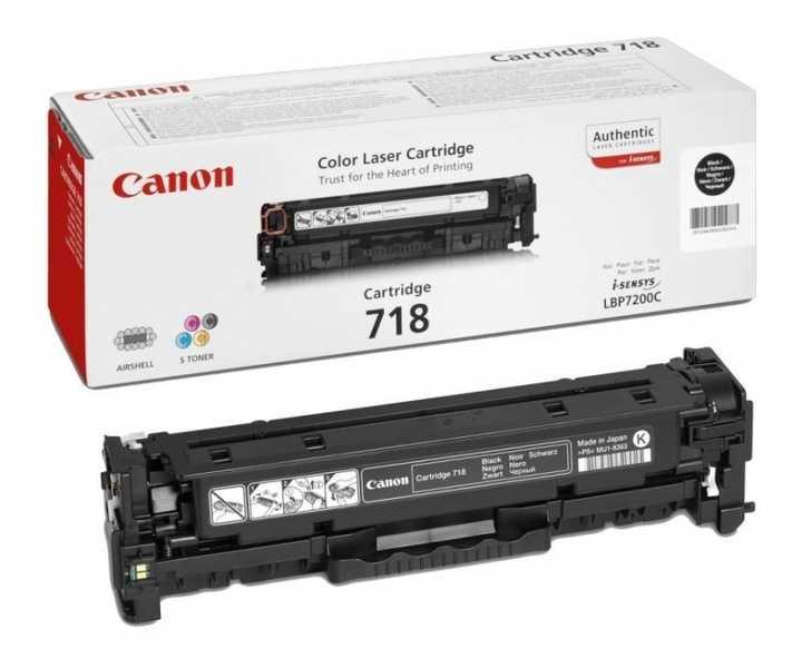 originální toner Canon CRG-718bk black černý originální toner pro tiskárnu Canon LBP7200cdn