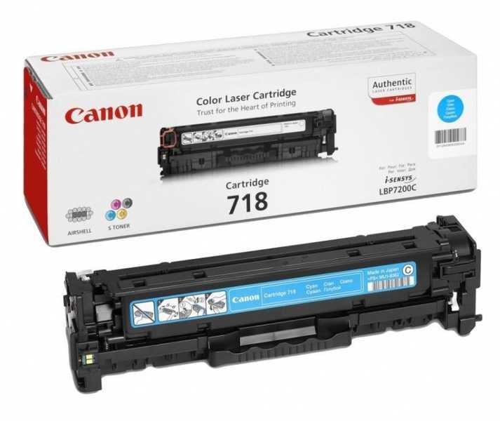 originální toner Canon CRG-718c cyan modrý azurový originální toner pro tiskárnu Canon LBP7200cdn