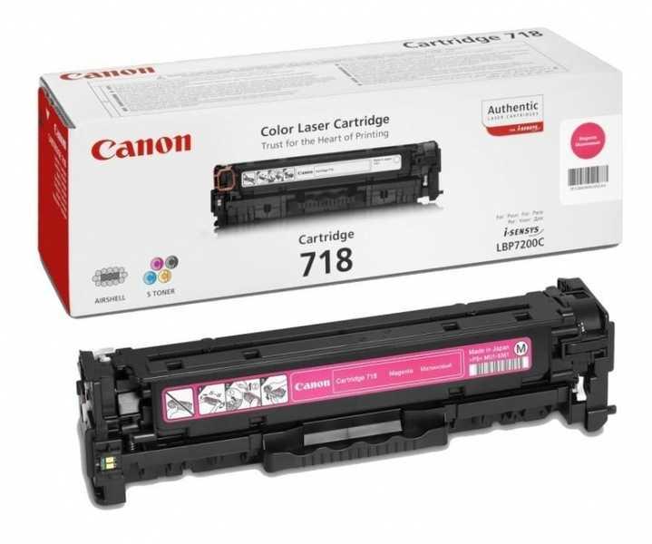 originální toner Canon CRG-718m magenta purpurový červený originální toner pro tiskárnu Canon i-SENSYS MF8350cdn