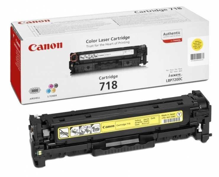 originální toner Canon CRG-718y yellow žlutý originální toner pro tiskárnu Canon LBP7200cdn