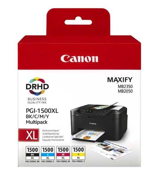 originální set Canon PGI-1500XL sada cartridge originální inkoustové náplně pro tiskárnu Canon Maxify MB 2050
