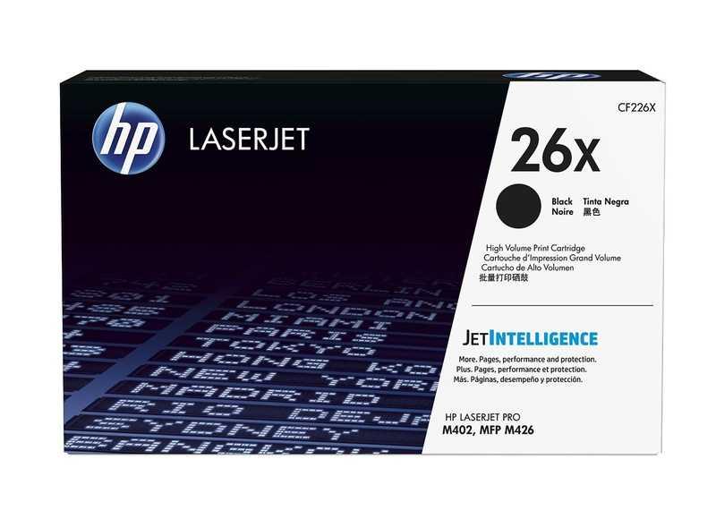 originální toner HP CF226X, HP 26X (9000 stran) black černý originální toner pro tiskárnu HP LaserJet Pro M400 Series