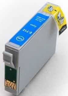 kompatibilní s Epson T0712 cyan cartridge modrá azurová kompatibilní inkoustová náplň pro tiskárnu Epson Stylus DX8400