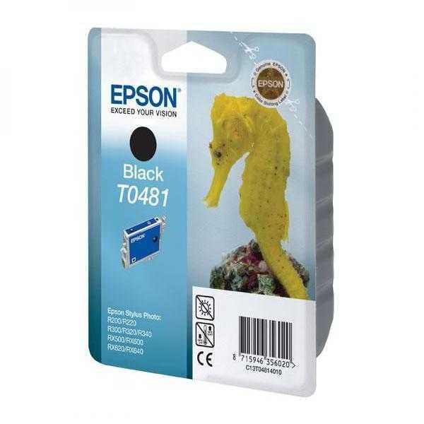 originální Epson T0481 black cartridge, černá originální inkoustová náplň pro tiskárnu Epson Stylus Photo RX600